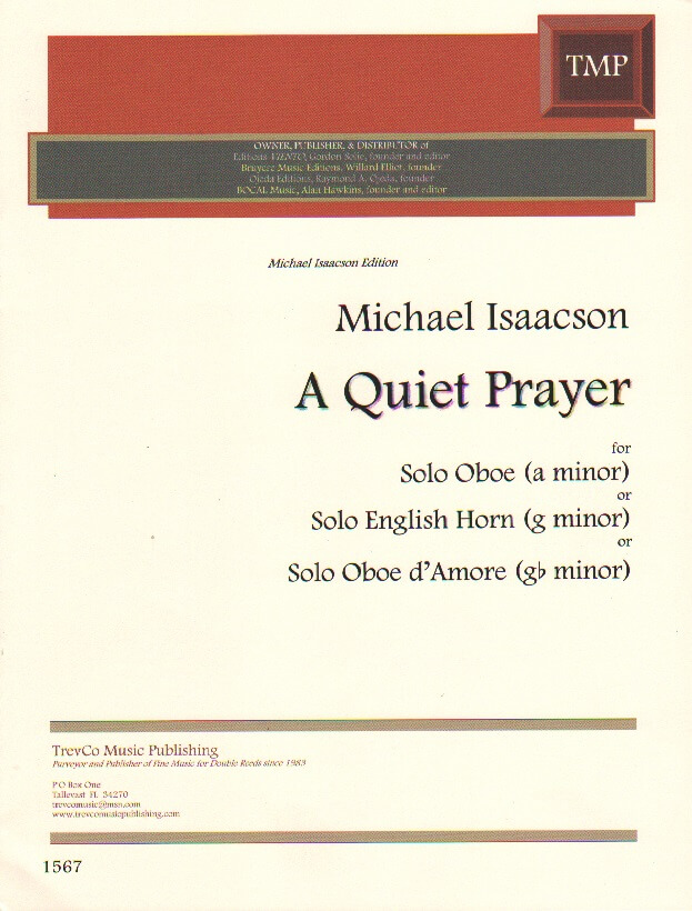 Quiet Prayer, A - Oboe (or English Horn or Oboe d'Amore) Unaccompanied
