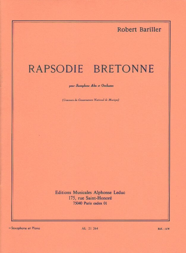 Rapsodie Bretonne - Alto Sax and Piano