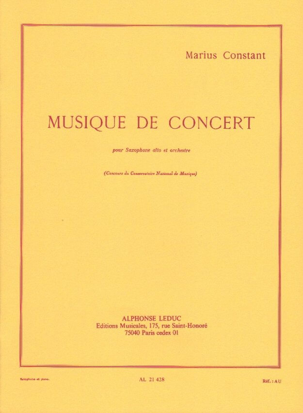 Musique de Concert - Alto Sax and Piano
