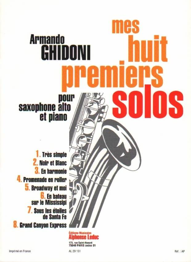 My 8 First Solos (Mes Huit Premiers Solos) - Alto Sax and Piano
