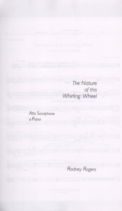 Nature of This Whirling Wheel - Alto Sax and Piano