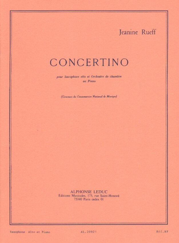 Concertino, Op. 17 - Alto Sax and Piano