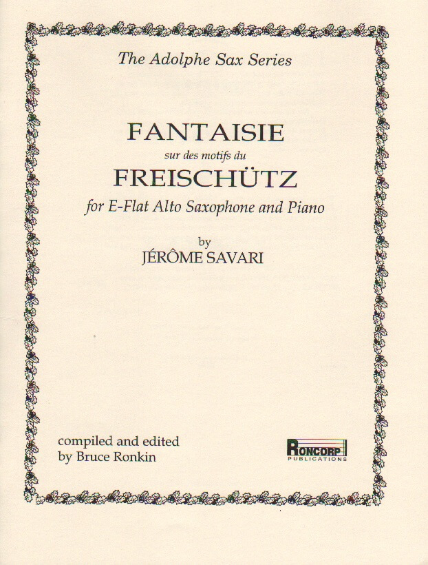 "Fantasy on Motives from ""Der Freischutz"" - Alto Sax and Piano"