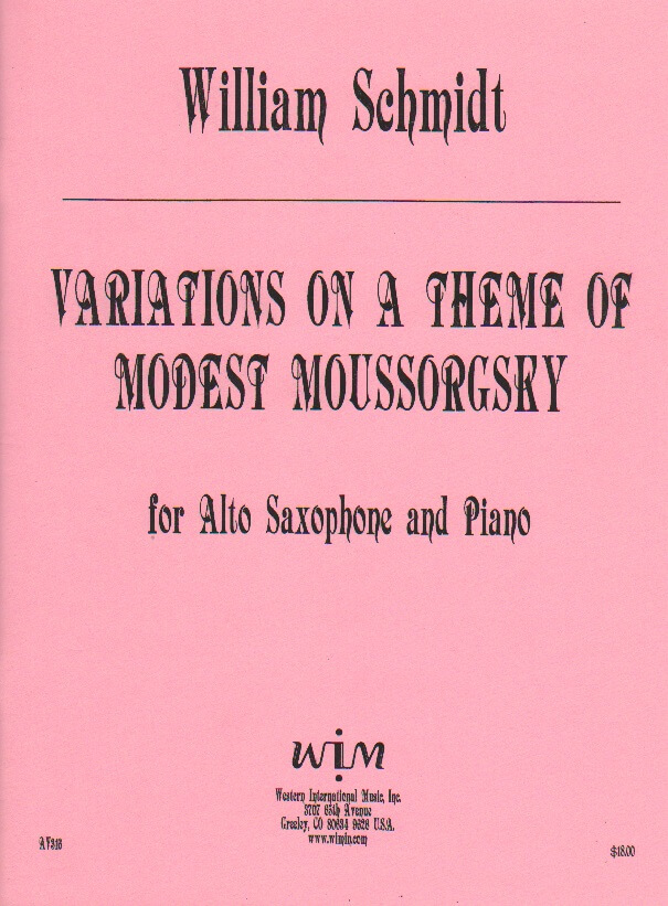 Variations on a Theme of Modest Mussorgsky - Alto Sax and Piano
