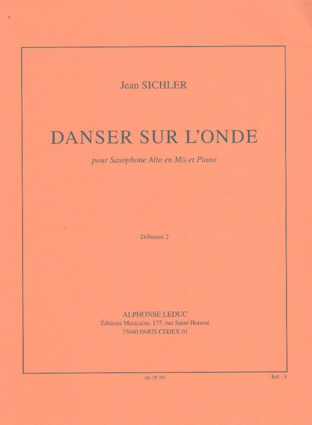 Danser sur l'Onde - Alto Sax and Piano