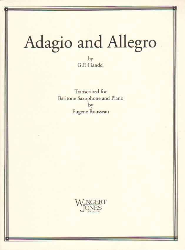 Adagio and Allegro - Baritone Sax and Piano