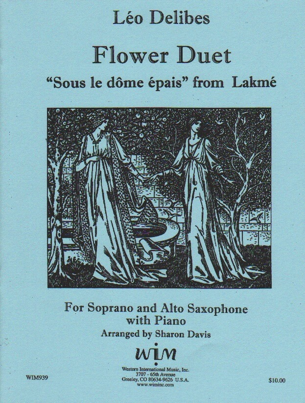 Flower Duet (Sous le Dome Epais) from Lakme - Sax Duet SA and Piano