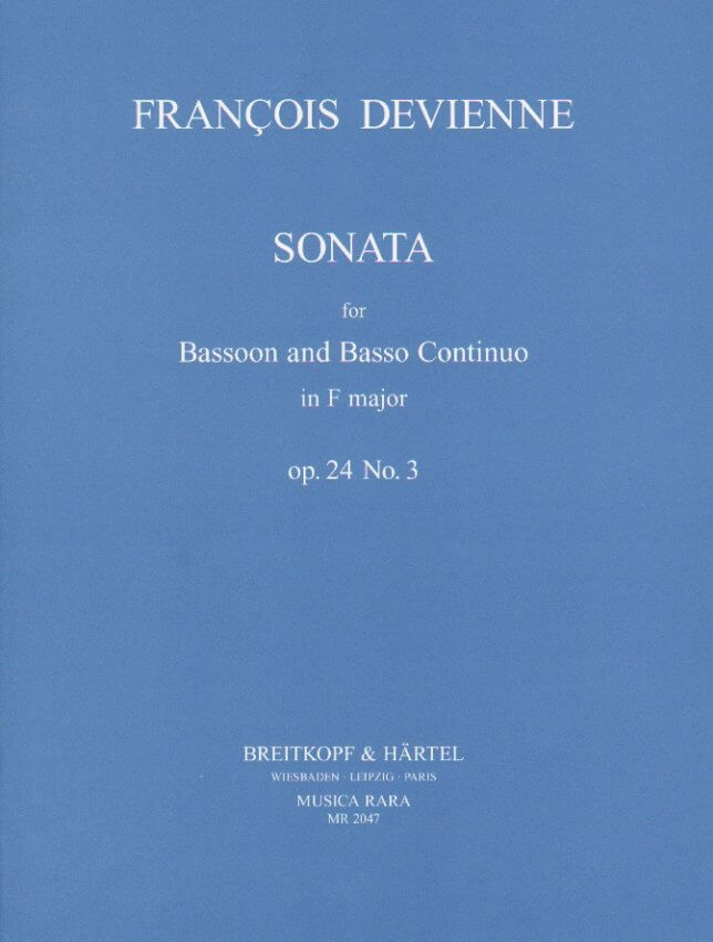 Sonata in F Major Op. 24 No. 3 - Bassoon and Piano