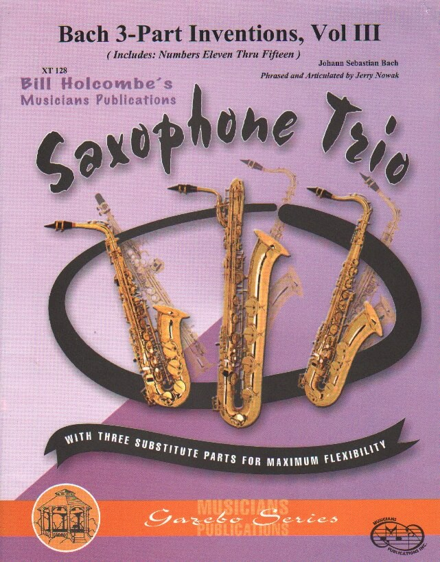 3-Part Inventions, Vol. 1: Nos. 105 - Sax Trio ATB