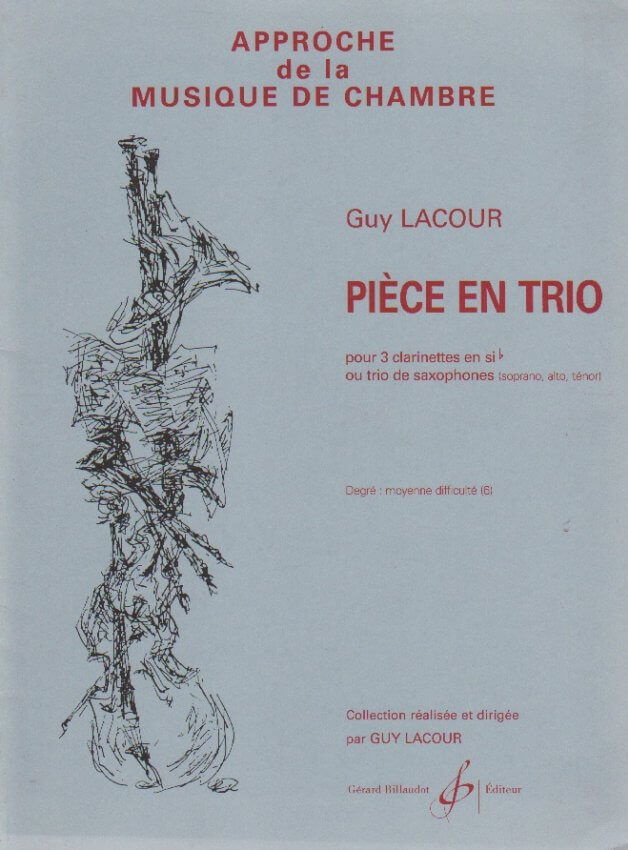 Piece en Trio - Sax Trio SAT (or Clarinet Trio)