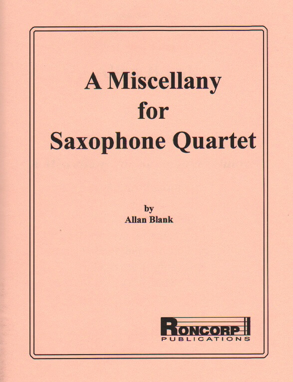 Miscellany for Saxophone Quartet - SATB