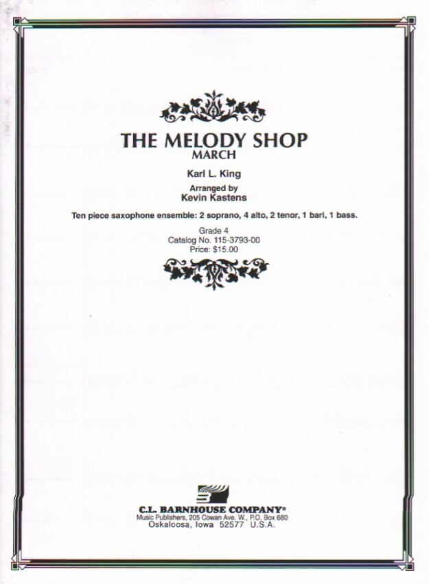 Melody Shop - Sax Ensemble