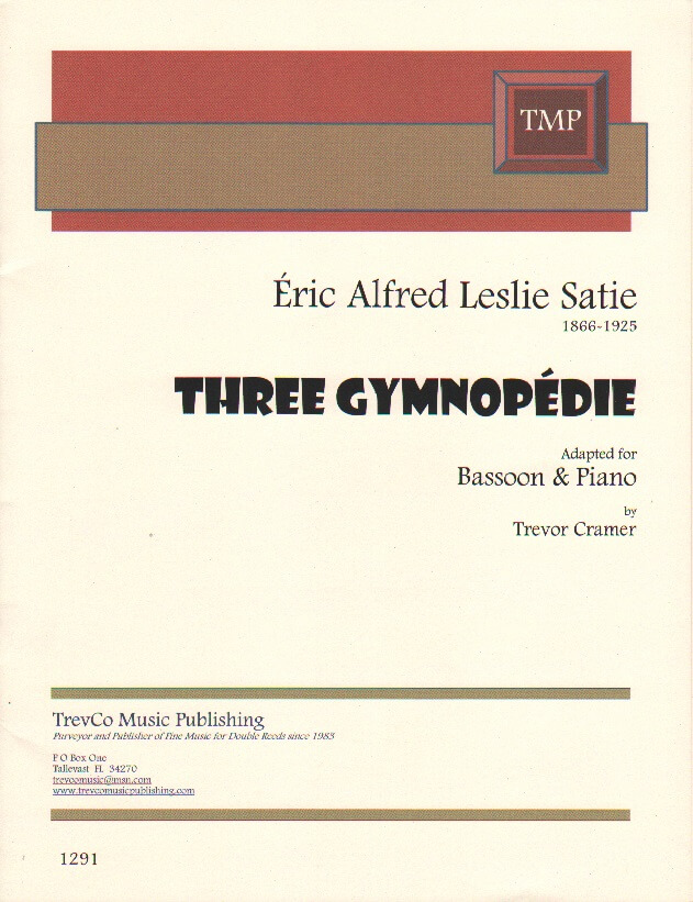 3 Gymnopedie - Bassoon and Piano