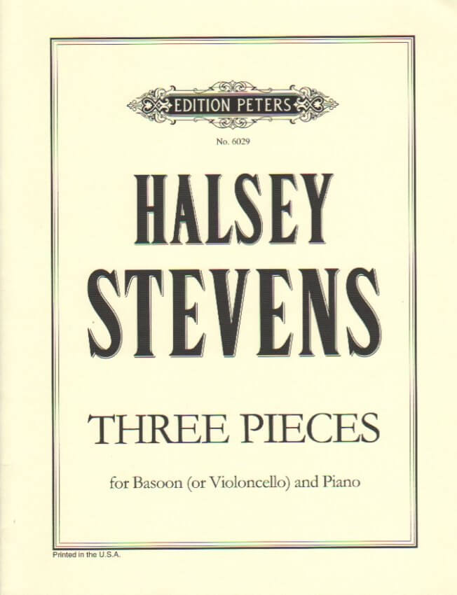 3 Pieces for Bassoon (or Cello) and Piano