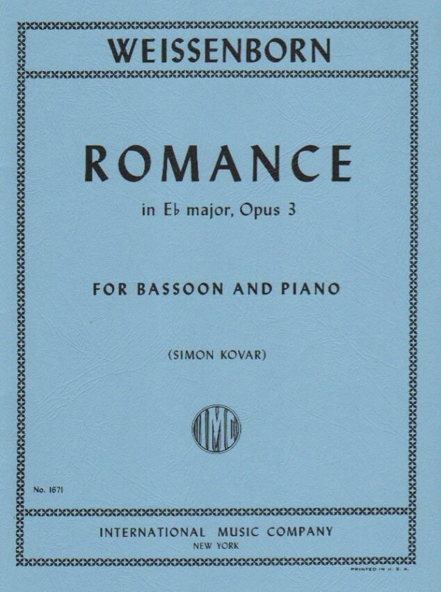 Romance in E-flat Major Op. 3 - Bassoon and Piano