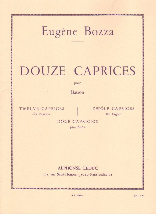 12 Caprices - Bassoon