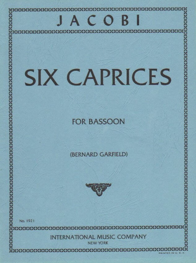 6 Caprices - Bassoon