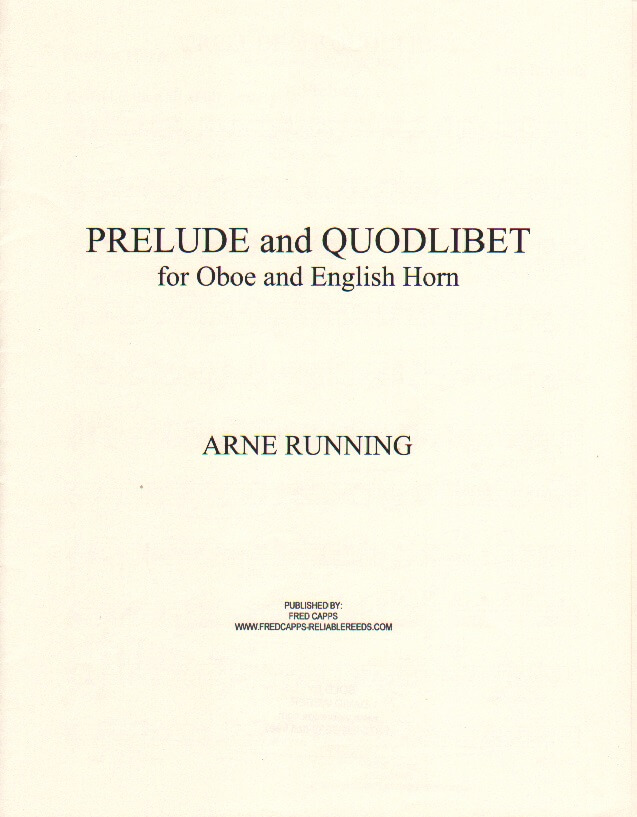 Prelude and Quodlibet - Oboe and English Horn