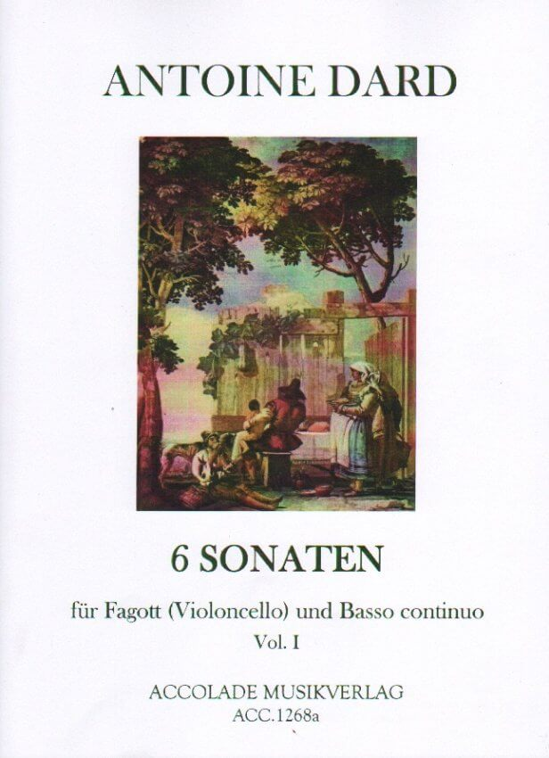 6 Sonatas, Volume 1 - Bassoon (or Cello) and Piano