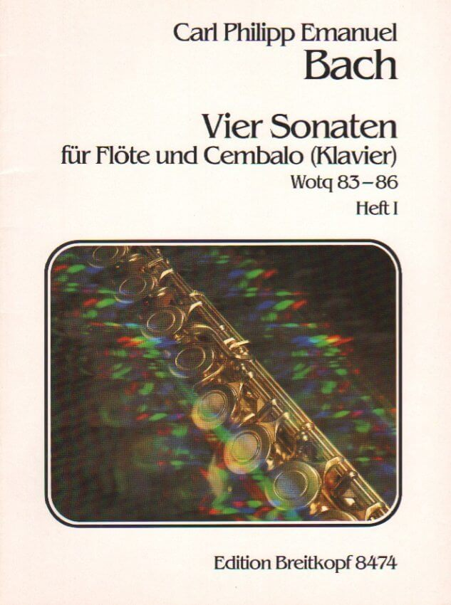 4 Sonatas, Wq. 83-86, Book 1 - Flute and Piano