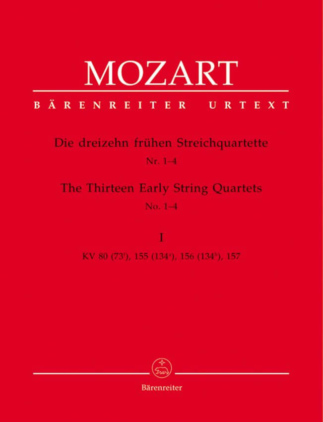 13 Early String Quartets, Volume 1 (Nos. 1-4) - Set of Parts