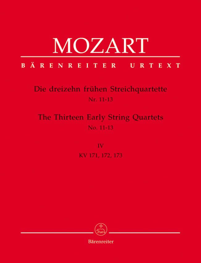 13 Early String Quartets, Volume 4 (Nos. 11-13) - Set of Parts