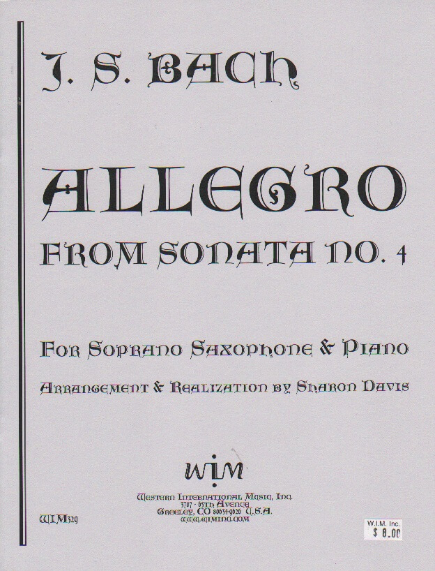 Allegro from Sonata No. 4 - Soprano Sax and Piano