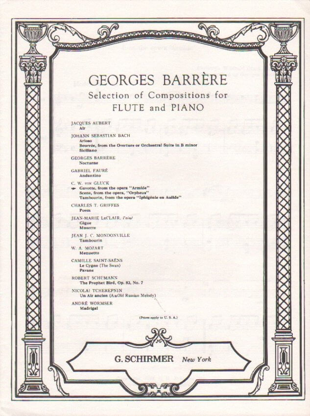 Gavotte from Armide - Flute and Piano