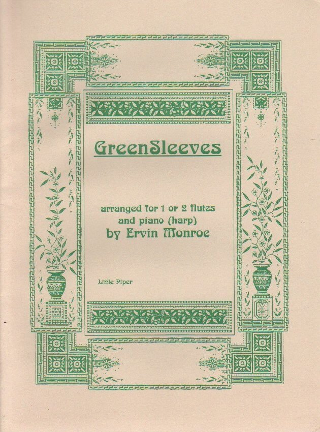 Greensleeves - Flute or Flute Duet and Piano