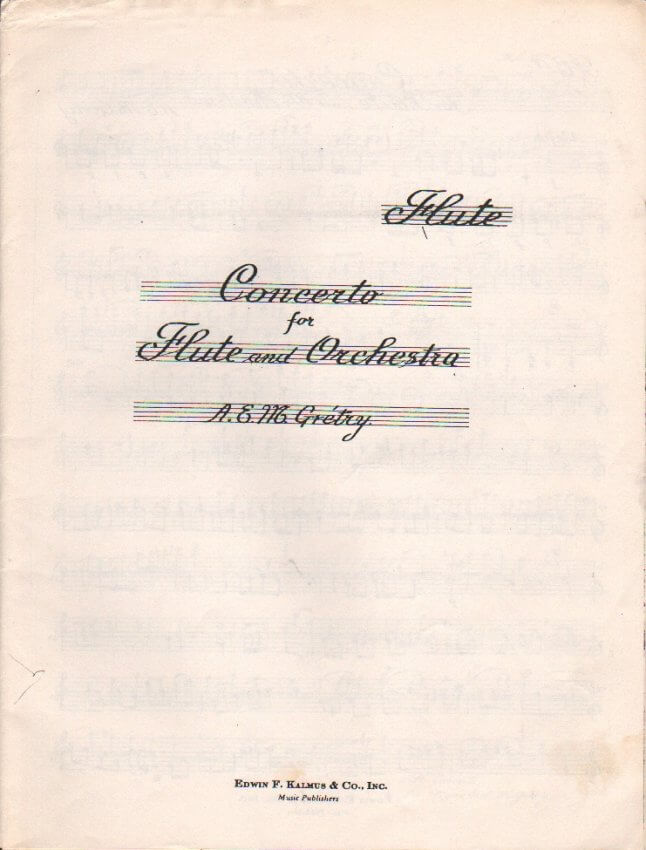 Concerto - Flute and Orchestra (Parts)