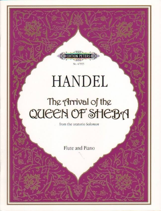 Arrival of the Queen of Sheba - Flute and Piano