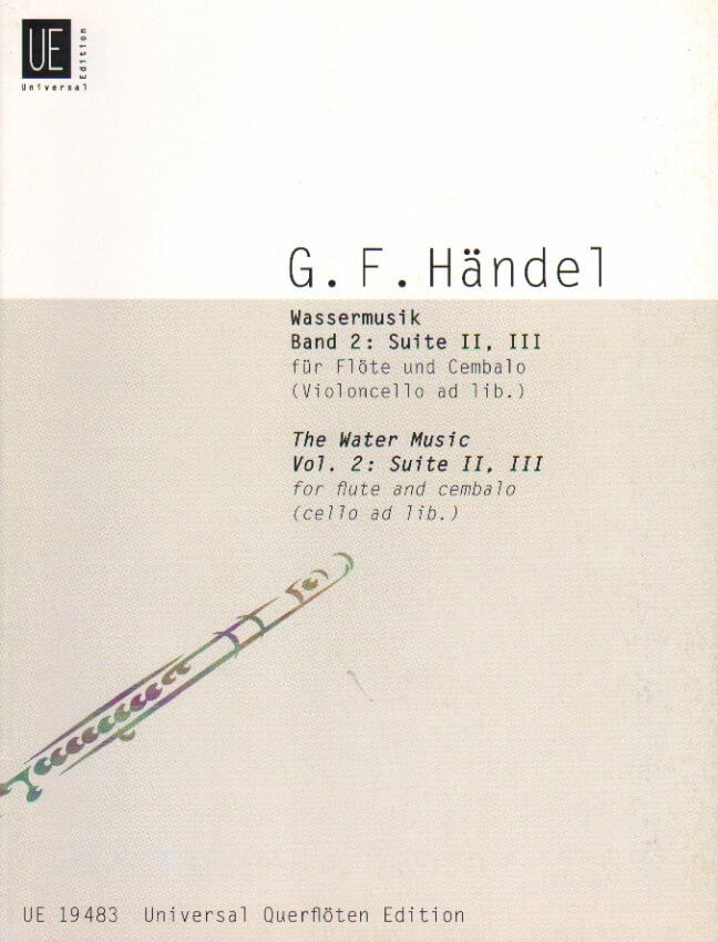 Water Music, Volume 2: Suites 2 and 3 - Flute and Piano (cello ad lib)