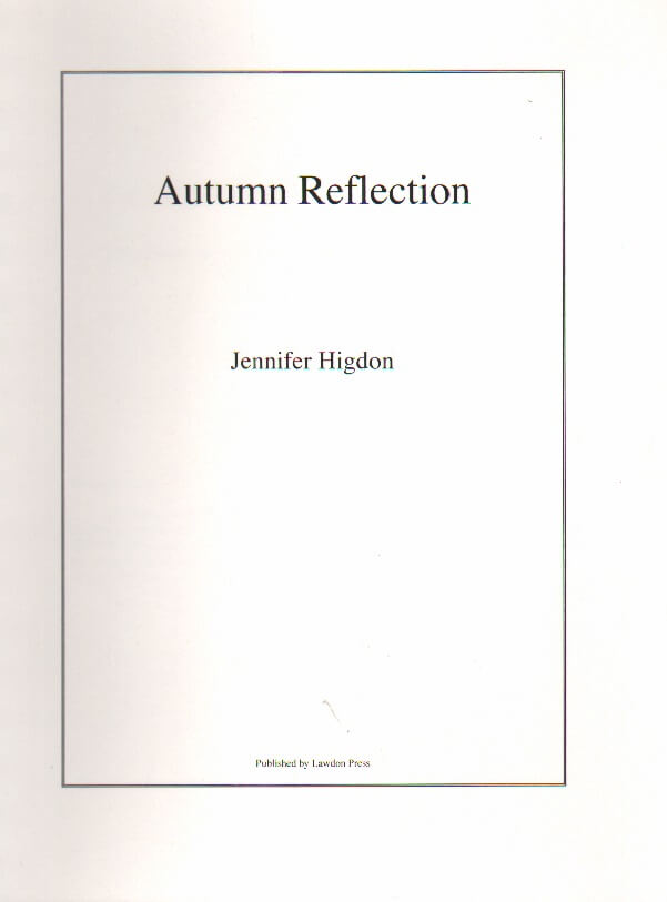 Autumn Reflection - Flute and Piano