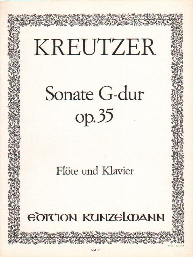 Sonata in G Major, Op. 35 - Flute and Piano