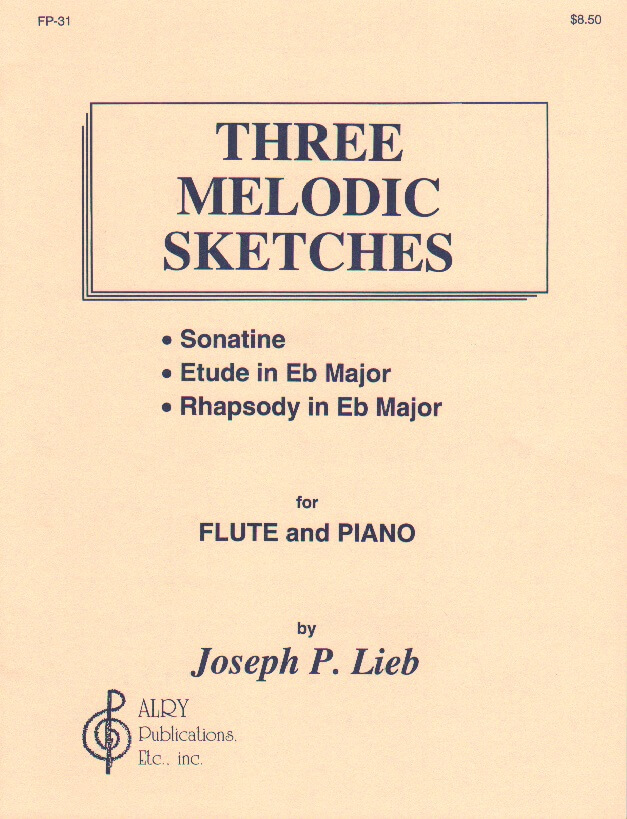 3 Melodic Sketches - Flute and Piano