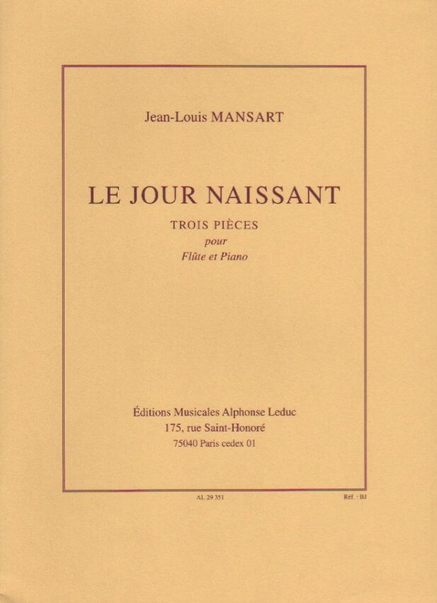 Le Jour Naissant - Flute and Piano