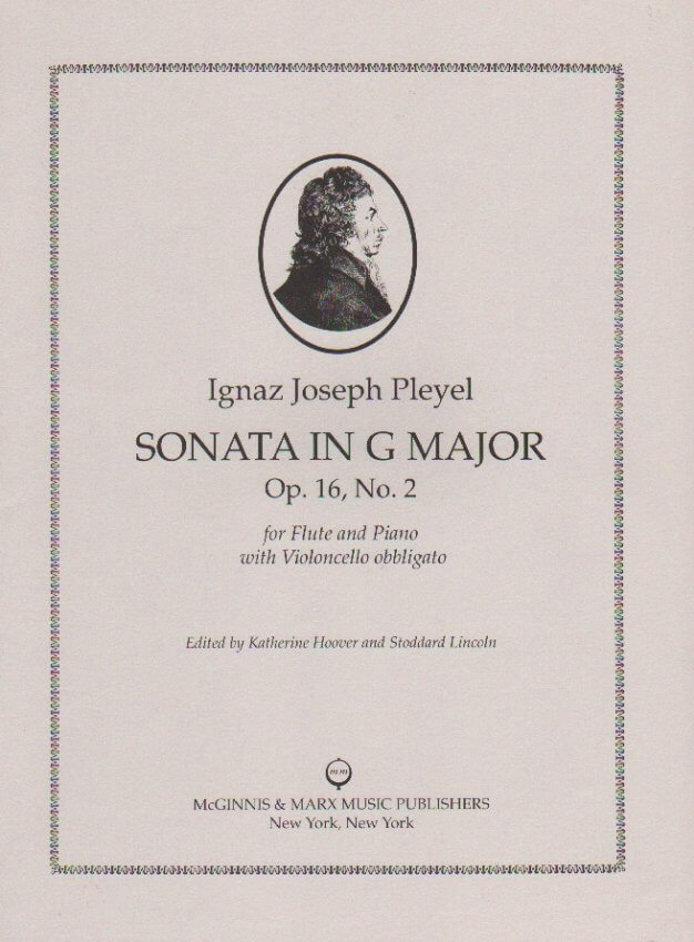 Sonata in G Major, Op. 16 No. 2 - Flute and Piano with Cello