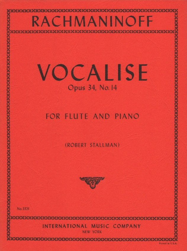 Vocalise, Op. 34, No. 14 - Flute and Piano