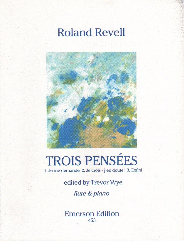 Trois Pensees - Flute and Piano