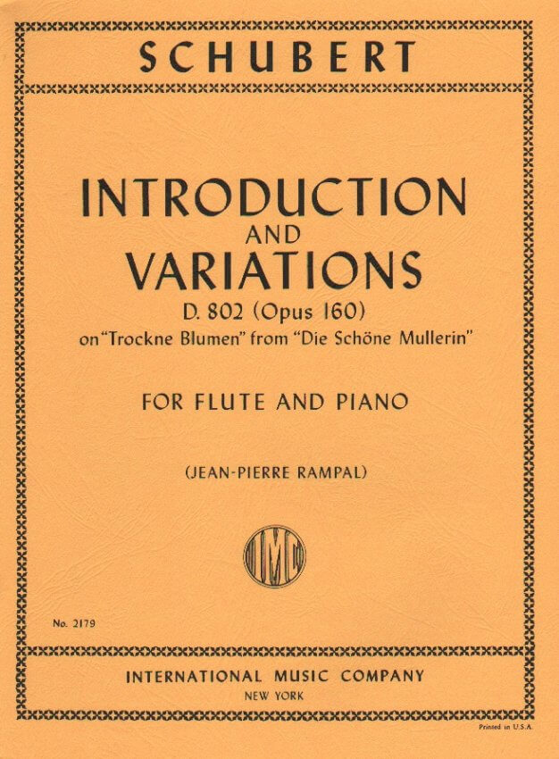 Introduction and Variations, Op 160 D. 802 - Flute and Piano