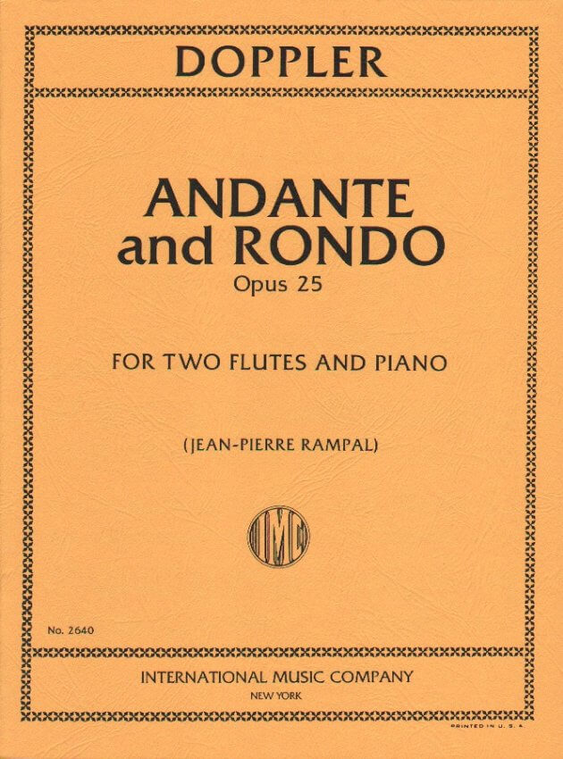 Andante and Rondo, Op. 25 - Flute Duet and Piano