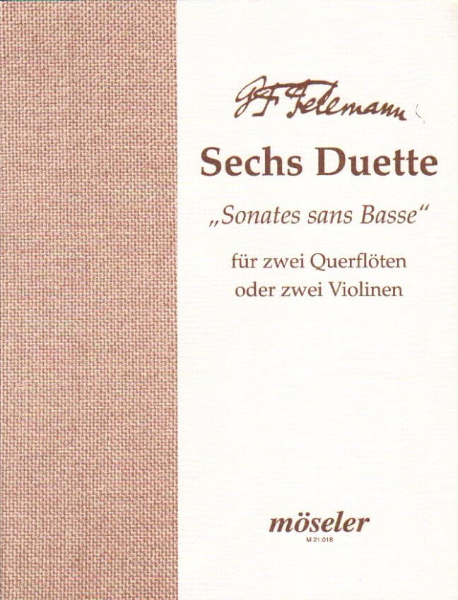 "6 Duets ""Sonatas without Bass"" - Flute (or Violin) Duet"
