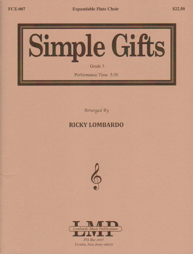 Simple Gifts - Expandable Flute Choir
