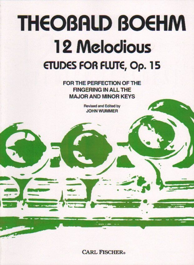 12 Melodious Etudes for Flute, Op. 15