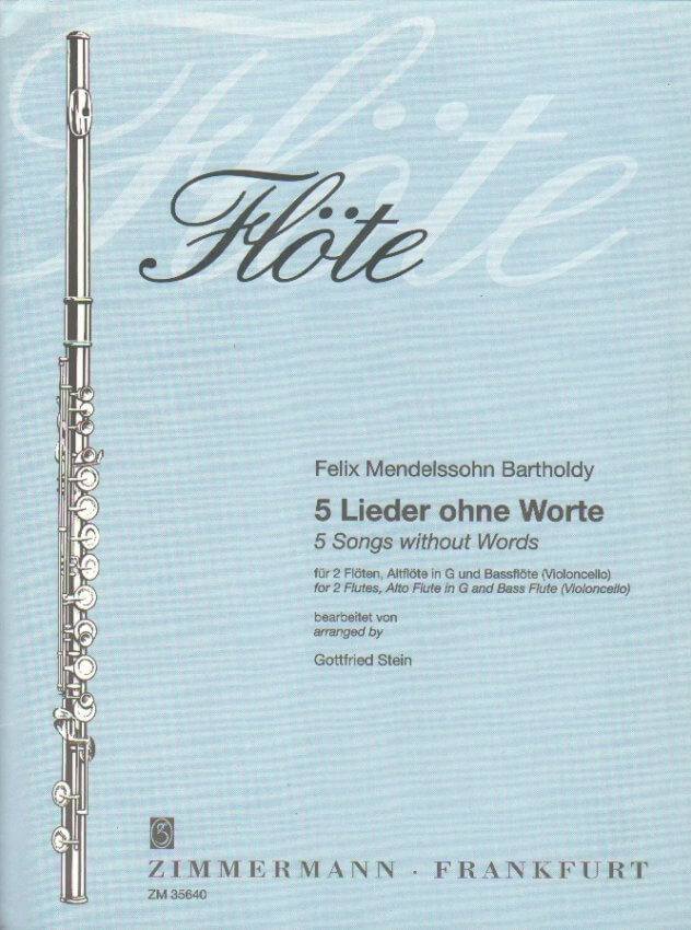 5 Songs Without Words - Flute Quartet