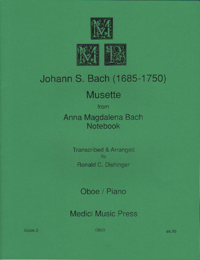 Musette from Anna Magdalena Bach Notebook - Oboe and Piano