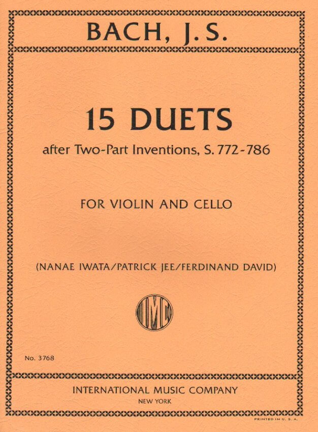 15 Duets after Two-Part Inventions, S  772-786 - Violin and Cello Duet