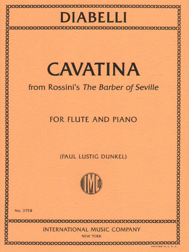 Cavatina from Rossini's Barber of Seville - Flute and Piano