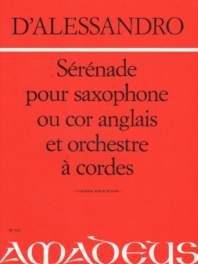 Serenade, Op. 12 - Alto Sax (or English Horn) and Piano