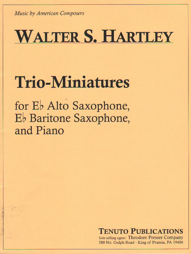 Trio-Miniatures - Sax Duet AB and Piano